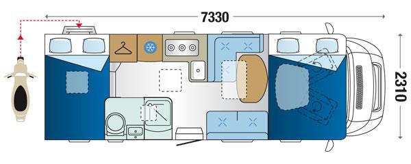 Riviera garage sinfonia s 2013 prezzo camper nuovo dimensioni for Prezzo del garage 16x20