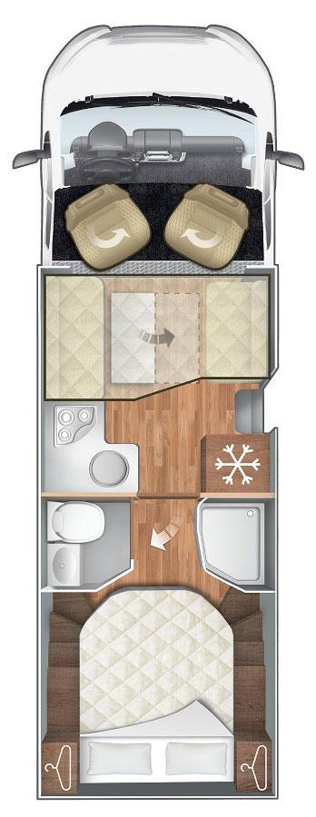Pianta Camper Horon 67XT