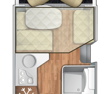 Pianta Camper Horon 95XT