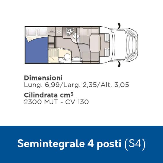 S4 Noleggio Camper 4 posti semintegrale
