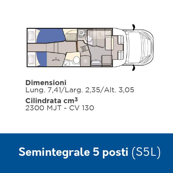 S5L Noleggio Camper 5 posti semintegrale